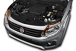 Car stock 2017 Fiat Fullback Sport Pack 4 Door Pick Up engine high angle detail view