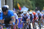 Thomas Pidcock (GBR) in the chase group into Harrogate for the first time during the Men U23 Road Race of the UCI World Championships 2019 running 186.9km from Doncaster to Harrogate, England. 27th September 2019.<br /> Picture: Eoin Clarke | Cyclefile<br /> <br /> All photos usage must carry mandatory copyright credit (© Cyclefile | Eoin Clarke)