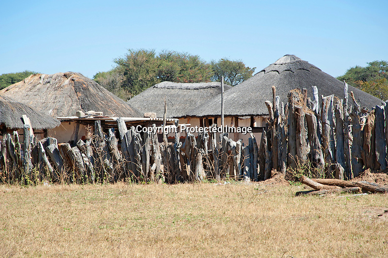 Native Family Compound in Rural Village of Ziga in Zimbabwe