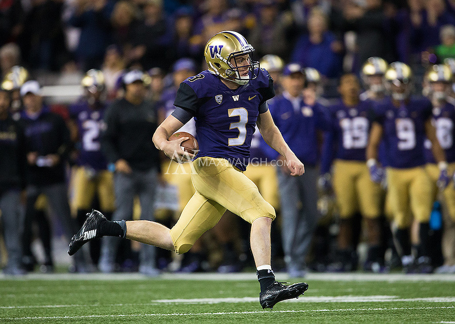 Jake Browning found room to run occasionally, unlike last week.