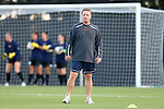26 September 2013: Virginia assistant coach Ron Raab. The Duke University Blue Devils hosted the University of Virginia Cavaliers at Koskinen Stadium in Durham, NC in a 2013 NCAA Division I Women's Soccer match. Virginia won the game 3-2.