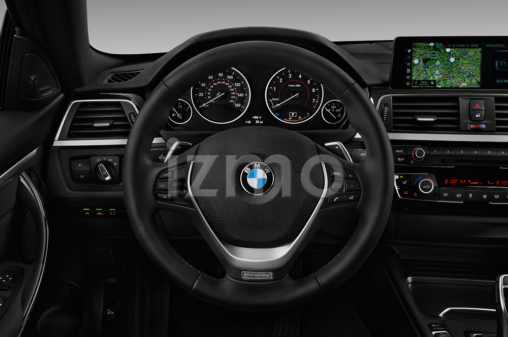 Car pictures of steering wheel view of a 2019 BMW 4 Series 430i Coupe 2 Door Coupe