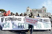 Roma, 5 Maggio 2017<br /> Manifestazione della comunità senegalese e associazioni antirazziste per chiedere giustizia per Niang Maguette, l'ambulante senegalese di 54 anni morto il 3 maggio a Roma durante un controllo dei vigili.