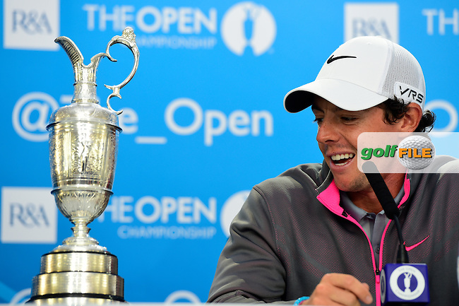 Rory MCILROY (NIR) is the 2014 Open Champion: <br /> Rory shot a final round of one under par to finish on 271 strokes, 17 under par at The 143rd Open championship Royal Liverpool Golf club, Hoylake, England.: Picture Eoin Clarke, \2017547#2}\: 20th July 2014