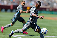 Minneapolis, MN - Sunday May 20, 2018: Minnesota United FC played Sporting Kansas City in a Major League Soccer (MLS) game at TCF Bank stadium. Final score Minnesota United FC 1, Sporting Kansas City 1