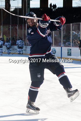 Jesse Schwartz (UConn - 17) - The University of Maine Black Bears defeated the University of Connecticut Huskies 4-0 at Fenway Park on Saturday, January 14, 2017, in Boston, Massachusetts.