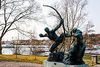 Sweden, Stockholm. Prins Eugens Waldemarsudde, the scenic former home of the Swedish Prince Eugen.