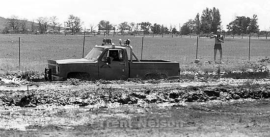 People enjoying the Mud bog.<br />
