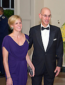 Adam Silver, Commissioner, National Basketball Association and Maggie Grise arrive for the State Dinner in honor of Prime Minister Trudeau and Mrs. Sophie Gr&eacute;goire Trudeau of Canada at the White House in Washington, DC on Thursday, March 10, 2016.<br /> Credit: Ron Sachs / Pool via CNP