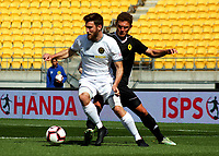 Action from the ISPS Handa Premiership football match between Team Wellington and Wellington Phoenix reserves at Westpac Stadium in Wellington, New Zealand on Sunday, 21 October 2018. Photo: Mike Moran / lintottphoto.co.nz