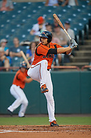 Bowie Baysox Ryan Ripken (22) at bat during an Eastern League game against the Richmond Flying Squirrels on August 15, 2019 at Prince George's Stadium in Bowie, Maryland.  Bowie defeated Richmond 4-3.  (Mike Janes/Four Seam Images)