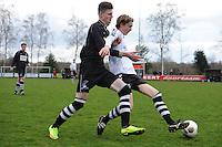 VOETBAL: MILDAM: 04-04-2015, VV Mildam - VV Oldeboorn, uitslag 1-4, Age de Jong (#9),  (#17), ©foto Martin de Jong