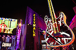 Giant guitar in front of Hard Rock Cafe at Universal Citywalk Hollywood in Los Angeles, CA