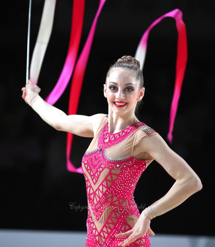 Boryana Kaleyn of Bulgaria performs at Thiais Grand Prix on March 25, 2018.