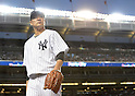 Masahiro Tanaka (Yankees), AUGUST 21, 2015 - MLB : Masahiro Tanaka of the New York Yankees walks back to the dugout after the top of the third inning during the Major League Baseball game against the Cleveland Indians at Yankee Stadium in the Bronx, New York, United States. (Photo by AFLO)