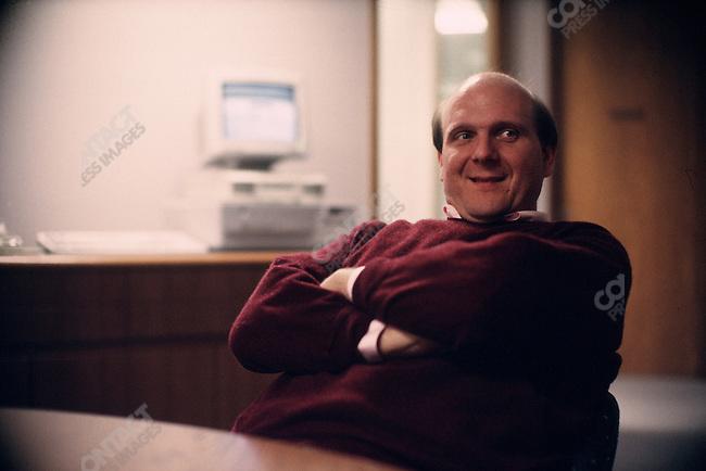 Steve Ballmer, Microsoft head of sales, Redmond, Washington, 1993