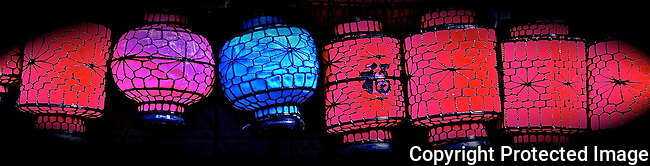 Colorful chinese hanging lanterns festivals