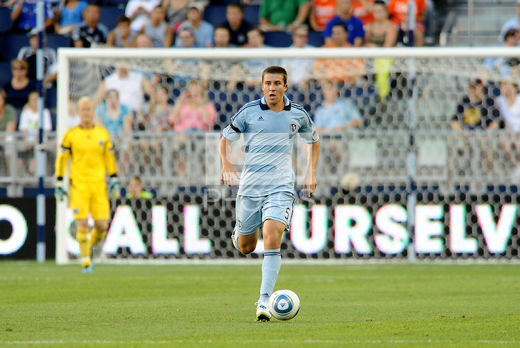 Matt Besler (5) defender Sporting KC in action... Sporting Kansas City were defeated 1-2 by Seattle Sounders at LIVESTRONG Sporting Park, Kansas City, Kansas.