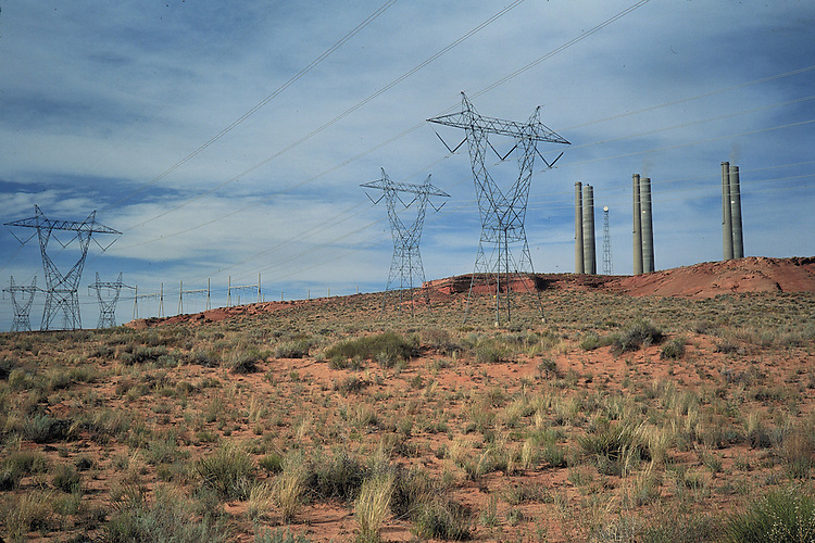Navajo coal fired power station near Lake Powell.