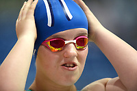 Picture by Richard Blaxall/SWpix.com - 15/04/2018 - Swimming - EFDS National Junior Para Swimming Champs - The Quays, Southampton, England - Georgia Howell of LIttlehampton preparing for the Women's MC 400m Freestyle