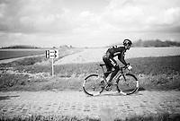 Mark Cavendish (GBR/DimensionData) during recon of the 114th Paris - Roubaix 2016