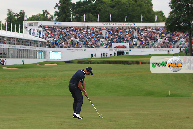 Henrik Stenson (SWE) on the 18th fairway during Round 4 of The BMW PGA Championship  at Wentworth Golf Club on Sunday 28th May 2017.<br /> Photo: Golffile / Thos Caffrey.<br /> <br /> All photo usage must carry mandatory copyright credit     (&copy; Golffile | Thos Caffrey)