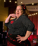Rose Guccione played Carmen. [Photo by Karen Kring] Cambalache, the story of Joe and his mysterious second-hand shop, is a tango theater show created, written and choreographed by Jorge Niedas & Liz Sung. Filled with music, dance, laughter and storytelling, the show includes performances by Niedas, Sung, other members of Tango 21 Dance Theater, Chicago Tango Jam and vocals by Rose Cuccione.