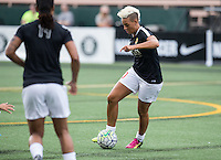 Seattle, WA - Saturday July 16, 2016: Lianne Sanderson prior to a regular season National Women's Soccer League (NWSL) match between the Seattle Reign FC and the Western New York Flash at Memorial Stadium.