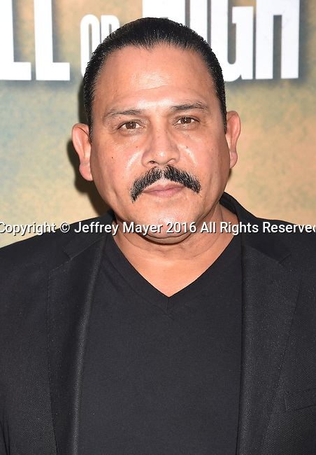 HOLLYWOOD, CA - AUGUST 10: Actor Emilio Rivera arrives at the screening of CBS Films' 'Hell Or High Water' at ArcLight Hollywood on August 10, 2016 in Hollywood, California.