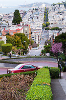 United States, California, San Francisco. Lombard Street is famous for having a steep, one-block section that consists of eight tight hairpin turns.