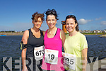 from left Gillian Riordan, Maeve Leahy and Tracy Smith pictured at the Rose of Tralee International 10k Race in Tralee on Sunday.