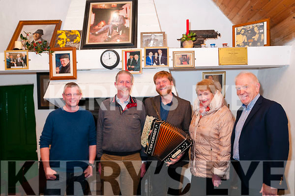 Danny O'Mahony Concert: Attending the Danny O'Mahony concert in Sheahan's Thatch Cottage on Friday night lat were Noel Moore. Pat Ahern, Danny O'Mahony, Mary Somers & Jimmy Deenihan.