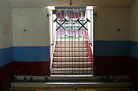 A closed gate of West Ham United ground  during the Barclays Premier League match between West Ham United and Swansea City  played at Boleyn Ground , London on 7th May 2016