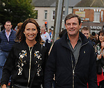 Former Dublin and Manchester United footballer Kevin Moran and his wife Eleanor (Originally from Westport) on their way to the All Ireland final replay.<br /> Pic Conor McKeown