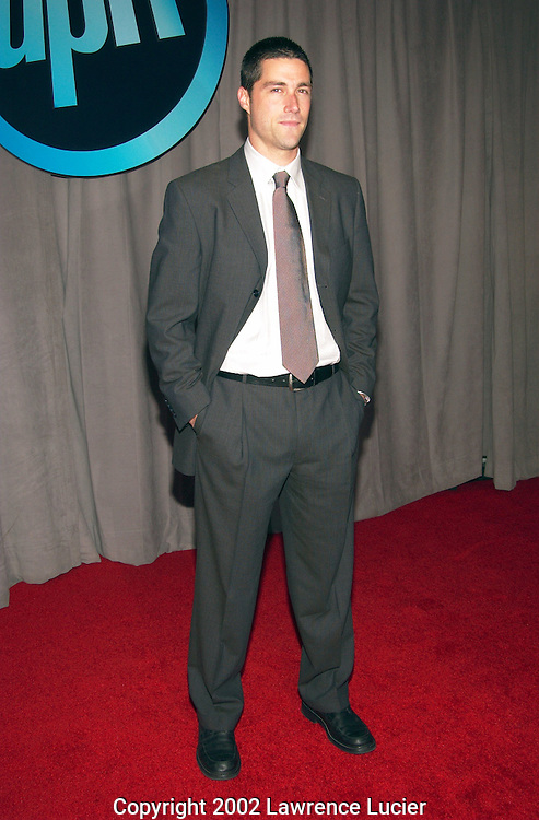 "Actor Matthew Fox arrives at the announcement of UPN's  2002-2003 primetime schedule of series May 16, 2002 in New York City. UPN will introduce four new series: ""Half and Half,"" ""Haunted,"" ""The Twilight Zone,"" and ""Abby."""