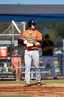 Baltimore Orioles Chris Shaw (67) at bat during an Instructional League game against the New York Yankees on September 23, 2017 at the Yankees Minor League Complex in Tampa, Florida.  (Mike Janes/Four Seam Images)