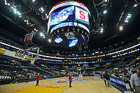 LOS ANGELES, CA - March 10, 2012: Staples Center prior to the start of the Stanford University woman's basketball team game against Cal during the PAC 12 Woman's Basketball Championship Game at the Staples Center in Los Angeles California. Final score Stanford won 77-62.