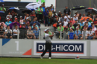 SSP Chawrasia (Asia) on the 1st tee during the Saturday Foursomes of the Eurasia Cup at Glenmarie Golf and Country Club on the 13th January 2018.<br /> Picture:  Thos Caffrey / www.golffile.ie