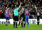9th December 2017, Selhurst Park, London, England; EPL Premier League football, Crystal Palace versus Bournemouth; Lewis Cook of Bournemouth receives a yellow card off Referee Kevin Friend for rough challenge on Wilfried Zaha of Crystal Palace
