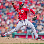 22 June 2014: Washington Nationals pitcher Rafael Soriano on the mound against the Atlanta Braves at Nationals Park in Washington, DC. The Nationals defeated the Braves 4-1 to split their 4-game series and take sole possession of first place in the NL East. Mandatory Credit: Ed Wolfstein Photo *** RAW (NEF) Image File Available ***