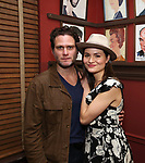 """Steven Pasquale and Phillipa Soo from the cast of """"The Parisian Woman"""" honored with a Sardi's Wall of Fame Portrait on February 28, 2018 at Sardi's in New York City."""