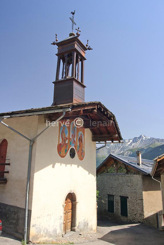 France, Savoie (73), Picolard, chapelle Saint-Antoine // France, Savoie, Picolard, chapel St Antoine