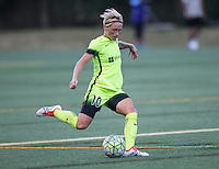 Seattle, WA - Saturday July 23, 2016: Jessica Fishlock during a regular season National Women's Soccer League (NWSL) match between the Seattle Reign FC and the Orlando Pride at Memorial Stadium.