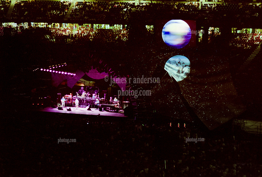 The Grateful Dead Live in Concert at Giants Stadium June 16, 1991. Full Set, Lights and Stage Design Capture Image. Version 01 More Stage Detail