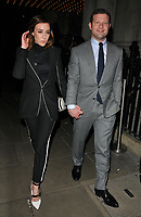 Dee Koppang and Dermot O'Leary at the LFW (Men's) a/w2018 GQ Dinner, Berners Tavern, The London Edition Hotel, Berners Street, London, England, UK, on Monday 08 January 2018.<br /> CAP/CAN<br /> &copy;CAN/Capital Pictures