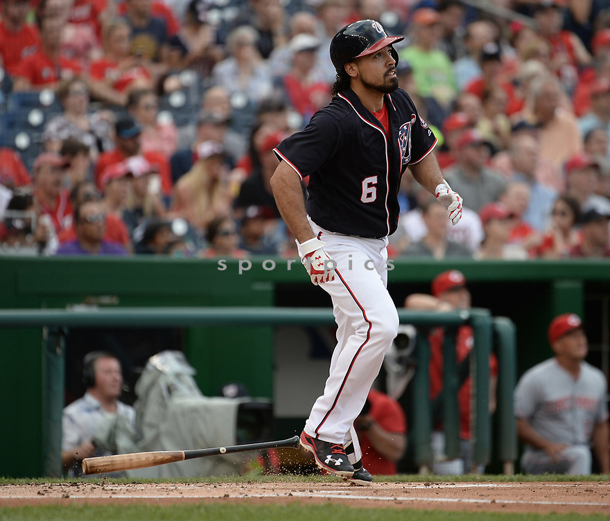 Washington Nationals Anthony Rendon (6) during a game against the Cincinnati Reds on July 1, 2016 at Nationals Park in Washington DC. The Nationals beat the Reds 3-2.