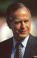 ***FILE PHOTO*** George H.W. Bush Has Passed Away<br /> Washington DC., USA, 1992<br /> President George H.W. Bush. Portrait. White House. <br /> CAP/MPI/MRN<br /> &copy;MRN/MPI/Capital Pictures