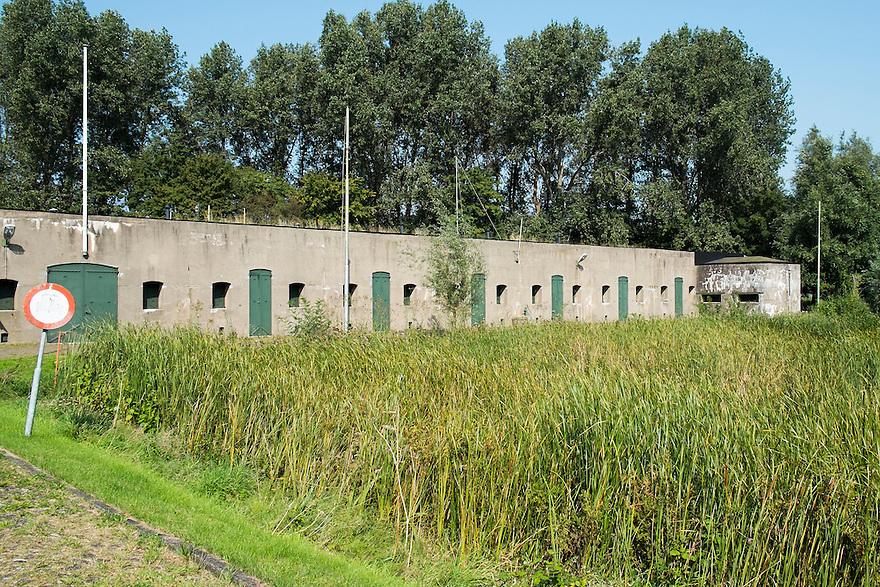 Nederland, Zaanstad, 4 sept 2014<br /> Fort aan den Ham nabij Wormerveer.  Dit fort is onderdeel van de stelling van Amsterdam.<br /> Foto: (c) Michiel Wijnbergh