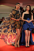 Tao Okamoto and Qi Wei walk the red carpet ahead of the 'Manhunt (Zhuibu)' screening during the 74th Venice Film Festival at Sala Darsena on September 8, 2017 in Venice, Italy. <br /> CAP/GOL<br /> &copy;GOL/Capital Pictures