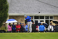 James Fitzpatrick (Mount Juliet) on the 1st tee during the Final round of the Irish Mixed Foursomes Leinster Final at Millicent Golf Club, Clane, Co. Kildare. 06/08/2017<br /> Picture: Golffile | Thos Caffrey<br /> <br /> <br /> All photo usage must carry mandatory copyright credit      (&copy; Golffile | Thos Caffrey)